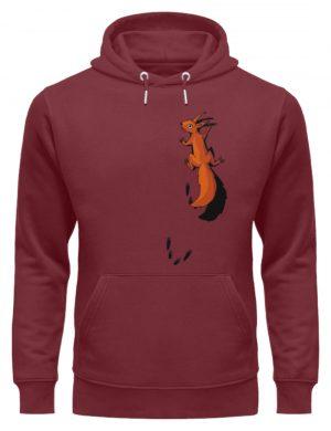 kletterndes Eichhörnchen mit Spuren - Unisex Organic Hoodie-6883