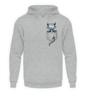 Verrückte Katze in Deiner Brust-Tasche - Unisex Kapuzenpullover Hoodie-6807