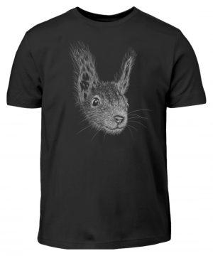 Eichhörnchen Bleistift Illustration - Kinder T-Shirt-16
