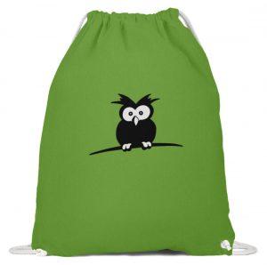 struppige Eule - das Shirt ist ein Muß für alle aufgeweckten Eulen-Fans - Baumwoll Gymsac-1646