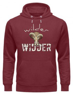 Wilder Widder | Mufflon Cooles Wild-Schaf - Unisex Organic Hoodie-6883