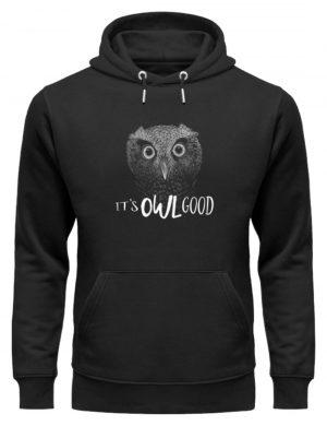 It-s OWL Good | Kritzel-Kunst-Eule - Unisex Organic Hoodie-16