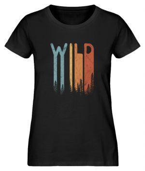 Wild Retro wilder Wald Schriftzug - Damen Premium Organic Shirt-16