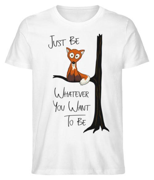 Just Be Whatever | Fuchs wie Eule - Herren Premium Organic Shirt-3