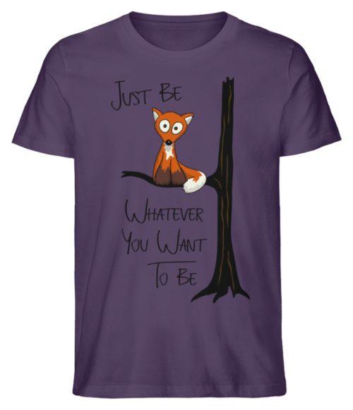 Just Be Whatever | Fuchs wie Eule - Herren Premium Organic Shirt-6884