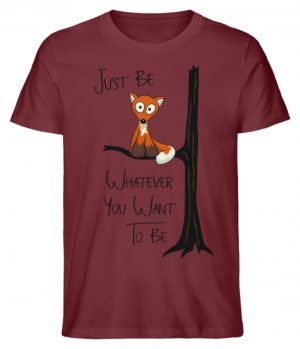 Just Be Whatever | Fuchs wie Eule - Herren Premium Organic Shirt-6883