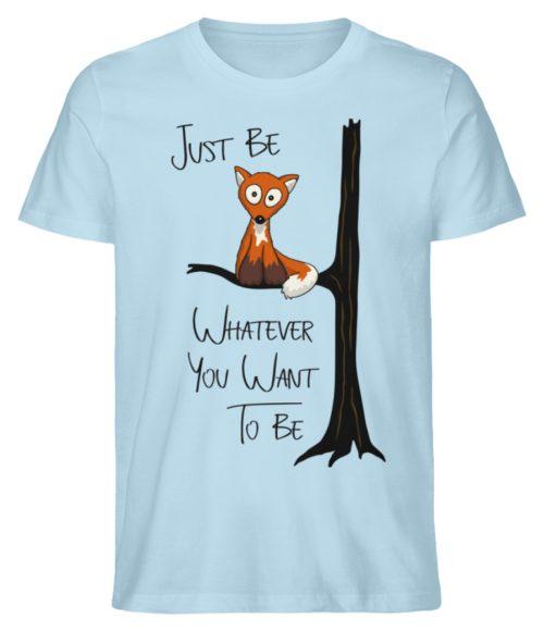 Just Be Whatever | Fuchs wie Eule - Herren Premium Organic Shirt-6888