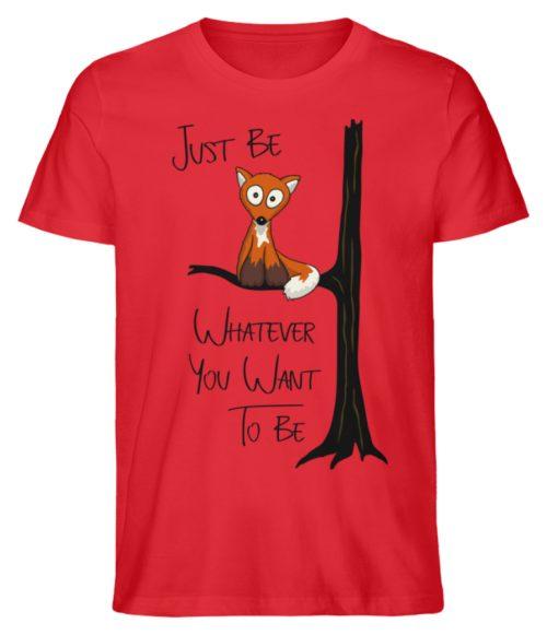 Just Be Whatever | Fuchs wie Eule - Herren Premium Organic Shirt-6882