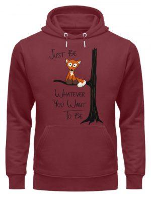 Just Be Whatever | Fuchs wie Eule - Unisex Organic Hoodie-6883