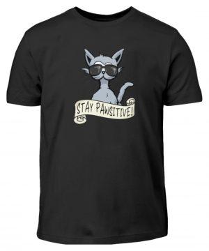 Stay Pawsitive Bleib lässig Hipster Katze - Kinder T-Shirt-16