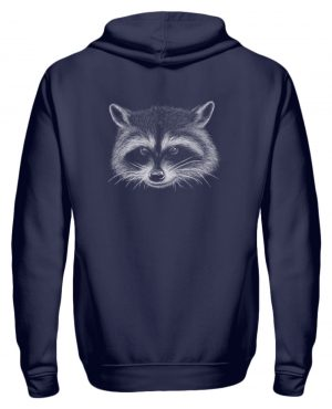 Coole freche Waschbär Illustration - Zip-Hoodie-198