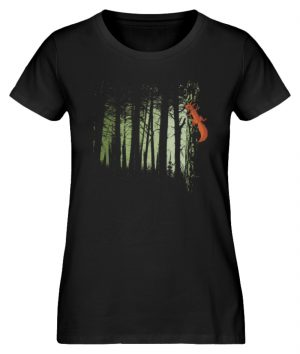 Eichhörnchen im Zwielicht-Wald - Damen Premium Organic Shirt-16