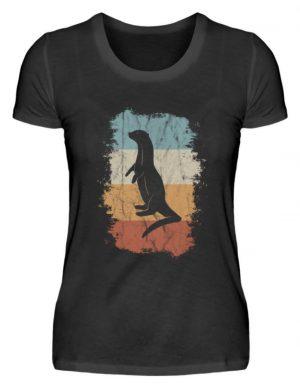 Retro Otter Fisch-Otter Silhouette - Damen Premiumshirt-16