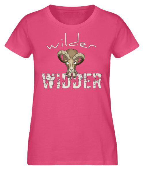 Wilder Widder | Mufflon Cooles Wild-Schaf - Damen Premium Organic Shirt-6930