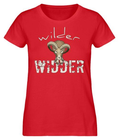 Wilder Widder | Mufflon Cooles Wild-Schaf - Damen Premium Organic Shirt-6882