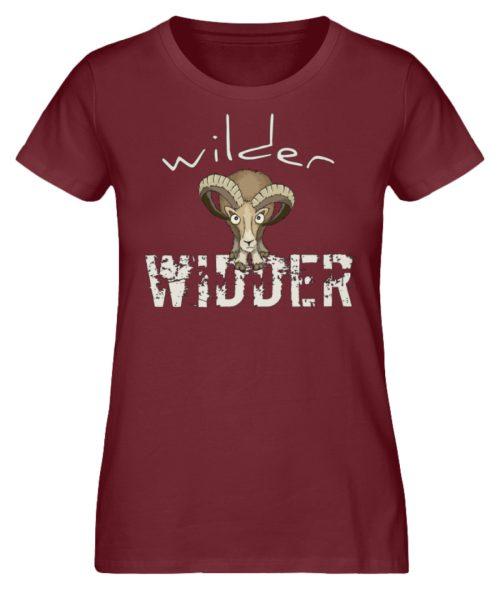 Wilder Widder | Mufflon Cooles Wild-Schaf - Damen Premium Organic Shirt-6883