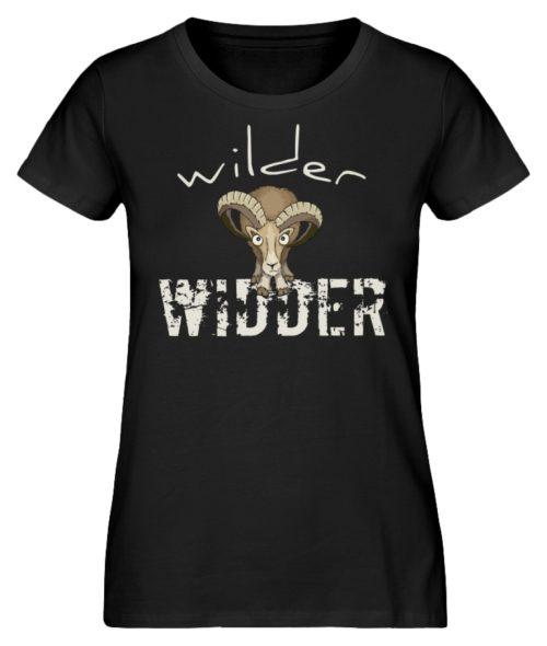 Wilder Widder | Mufflon Cooles Wild-Schaf - Damen Premium Organic Shirt-16