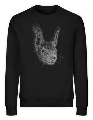 Eichhörnchen Bleistift Illustration - Unisex Organic Sweatshirt-16