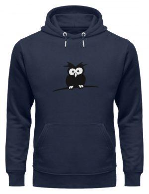 struppige Eule - das Shirt ist ein Muß für alle aufgeweckten Eulen-Fans - Unisex Organic Hoodie-6887