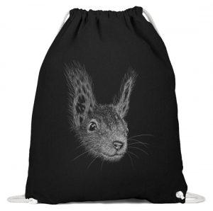 Eichhörnchen Bleistift Illustration - Baumwoll Gymsac-16