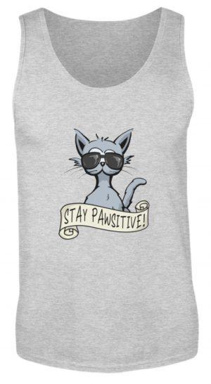 Stay Pawsitive Bleib lässig Hipster Katze - Herren Tanktop-236