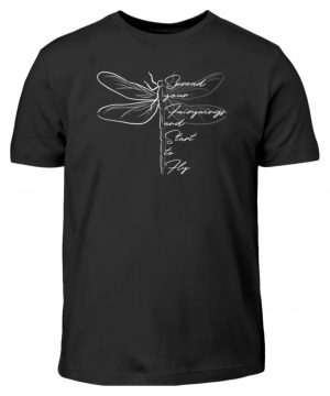 Breite die Flügel aus und flieg los | Libelle - Kinder T-Shirt-16