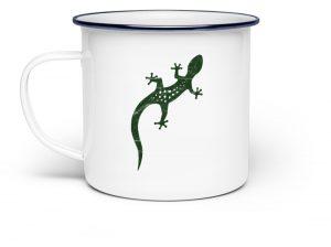 Eidechse Gecko Salamander Tasse - Emaille Tasse-3