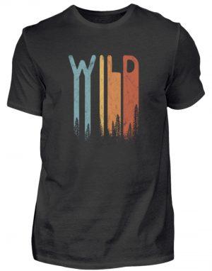 Wild Retro wilder Wald Schriftzug - Herren Shirt-16