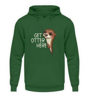 Get Otter Here | Lustiger Otter Kalauer - Unisex Kapuzenpullover Hoodie-833