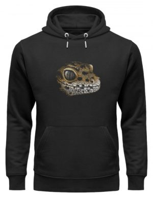 Leopard Gecko Skizze Kritzel-Kunst - Unisex Organic Hoodie-16