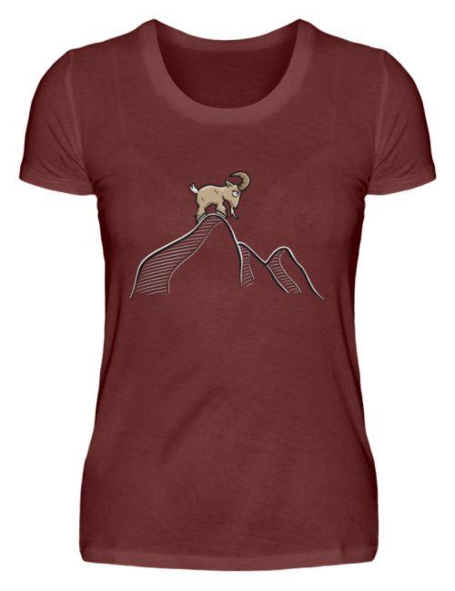 Ziegenbock in den Bergen - Damen Premiumshirt-3192
