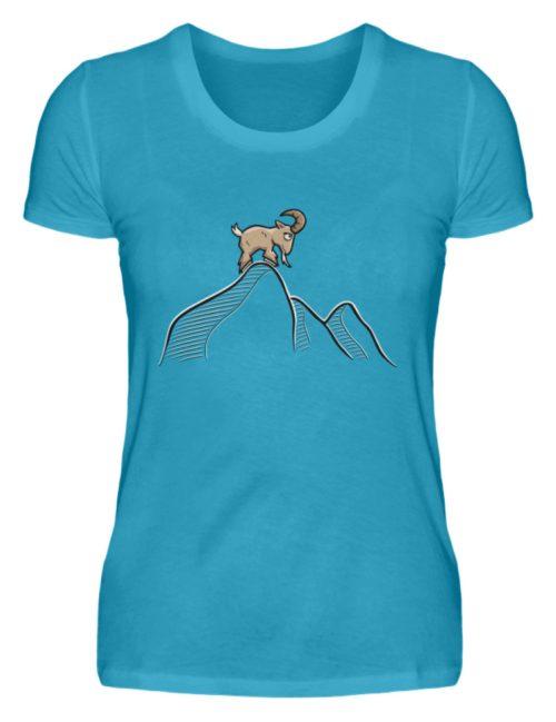 Ziegenbock in den Bergen - Damen Premiumshirt-3175