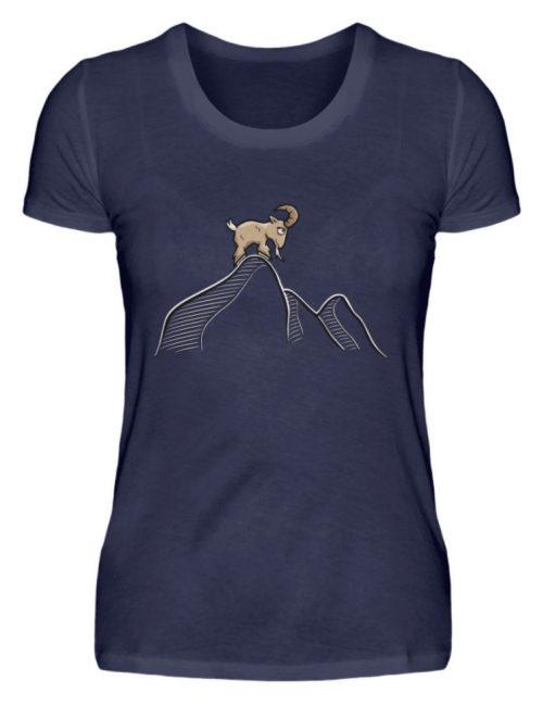 Ziegenbock in den Bergen - Damen Premiumshirt-198