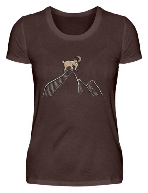 Ziegenbock in den Bergen - Damen Premiumshirt-1074