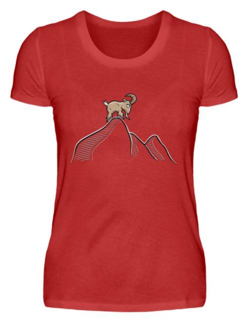 Ziegenbock in den Bergen - Damen Premiumshirt-4