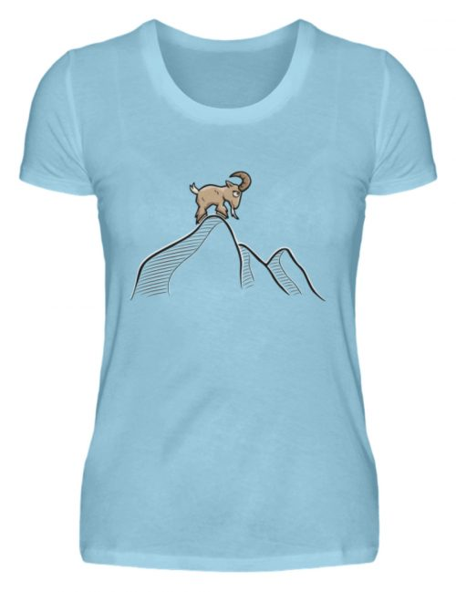 Ziegenbock in den Bergen - Damen Premiumshirt-674