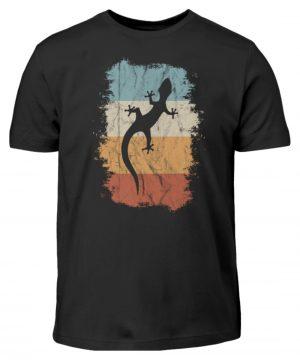 Retro Gecko Salamander Silhouette - Kinder T-Shirt-16