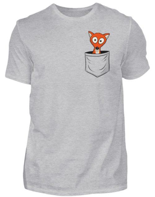 Fuchs in der Brusttasche | Taschen-Fuchs - Herren Shirt-17