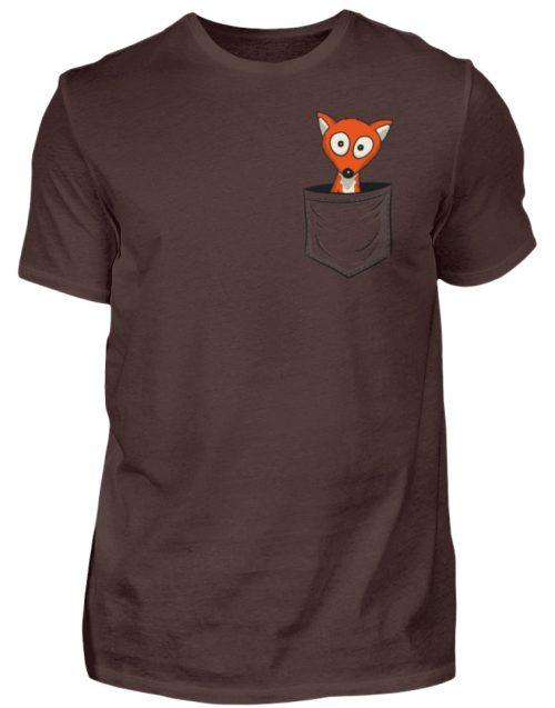 Fuchs in der Brusttasche | Taschen-Fuchs - Herren Shirt-1074