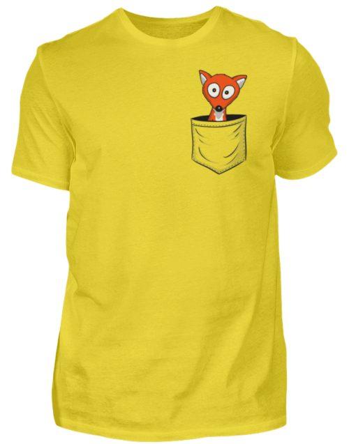 Fuchs in der Brusttasche | Taschen-Fuchs - Herren Shirt-1102