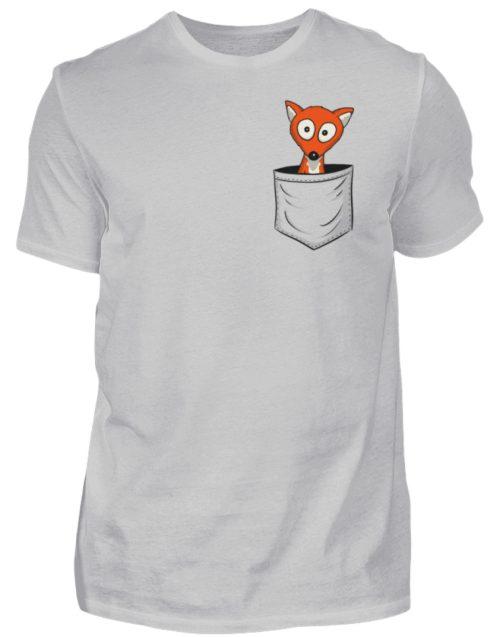 Fuchs in der Brusttasche | Taschen-Fuchs - Herren Shirt-1157