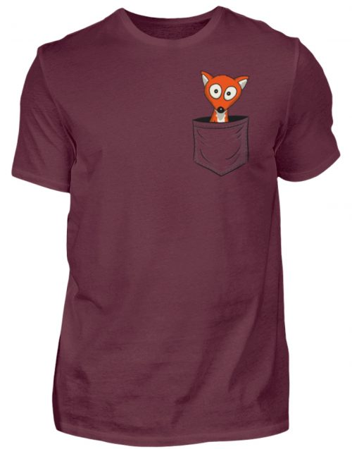 Fuchs in der Brusttasche | Taschen-Fuchs - Herren Shirt-839