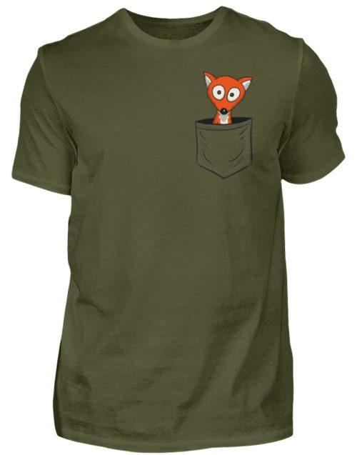 Fuchs in der Brusttasche | Taschen-Fuchs - Herren Shirt-1109