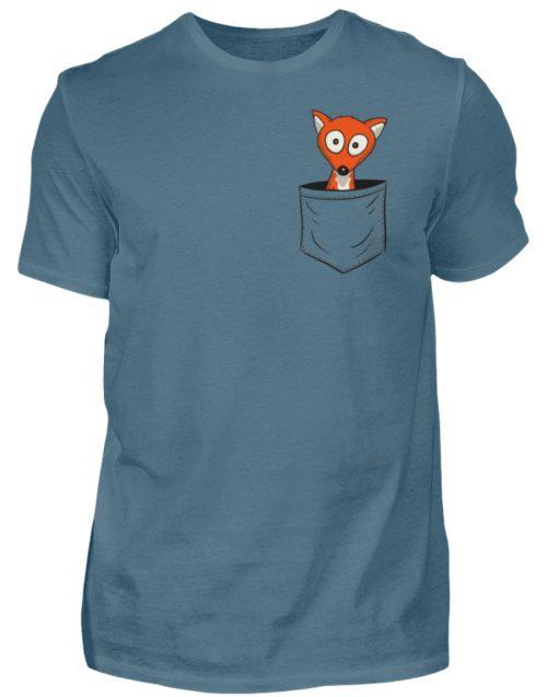 Fuchs in der Brusttasche | Taschen-Fuchs - Herren Shirt-1230