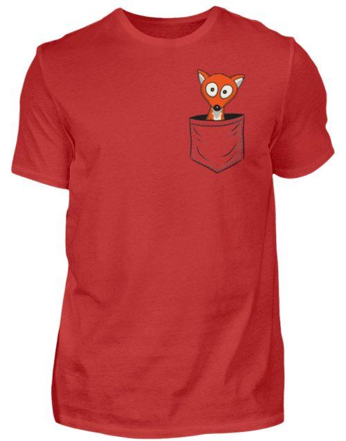 Fuchs in der Brusttasche | Taschen-Fuchs - Herren Shirt-4
