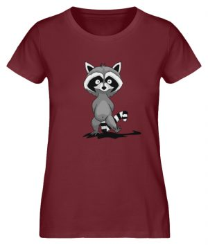 Frecher kleiner Waschbär - Damen Premium Organic Shirt-6883