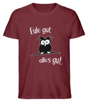 Eule gut, alles gut | witzige Eule - Herren Premium Organic Shirt-6883