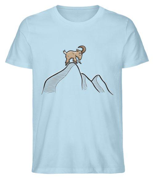 Ziegenbock in den Bergen - Herren Premium Organic Shirt-6888