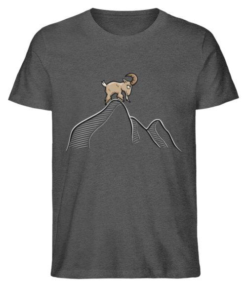 Ziegenbock in den Bergen - Herren Premium Organic Shirt-6898