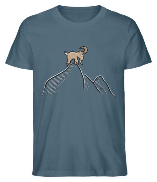 Ziegenbock in den Bergen - Herren Premium Organic Shirt-6895